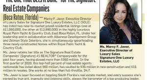 The one that gets it done: Marcy F. Javor featured in Sun Sentinel